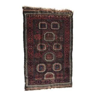 "Antique Persian Wool Rug -2'8"" X 4'6"""