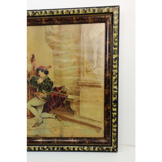 1894 Antique P.O. Vickery Marriage of Romeo and Juliet Art Print - Image 5 of 6