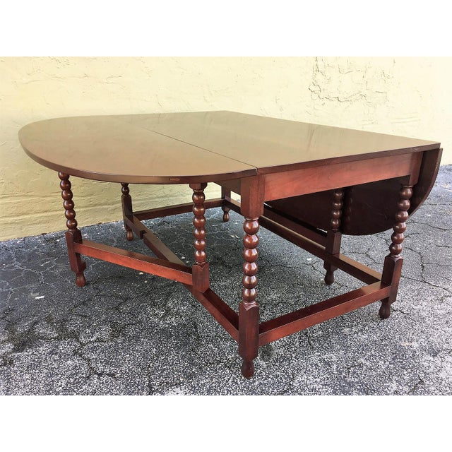 Brown American Sheraton Cherry Acanthus Carved Drop-Leaf Table, Circa 1820 For Sale - Image 8 of 12