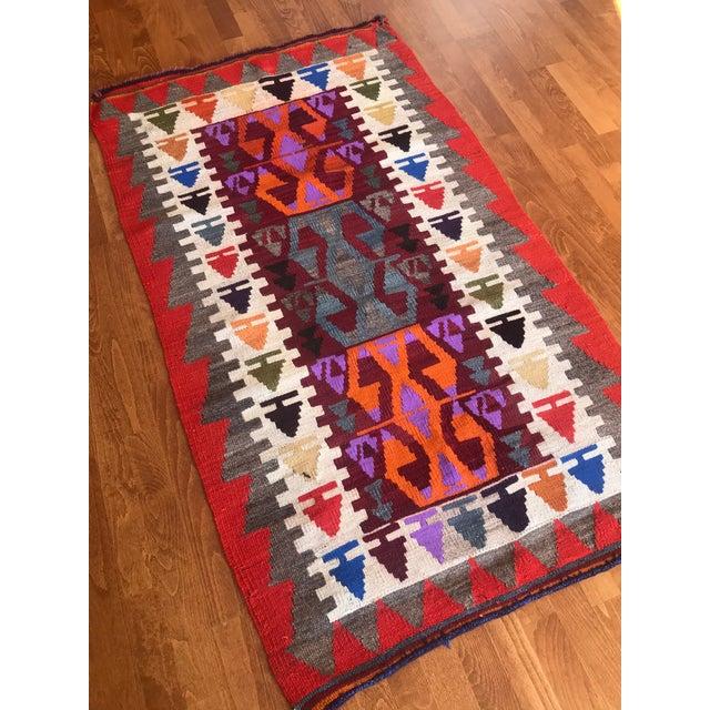 Textile 1970s Vintage Turkish Kilim Rug-3′1″ × 5′3″ For Sale - Image 7 of 11