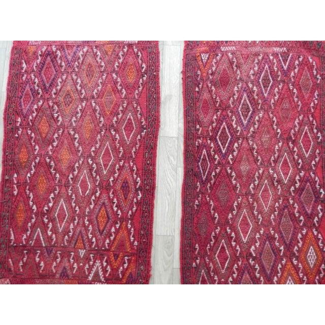 Turkish Pair Vintage Turkish Kilim Rug 1′8″ × 3′3″ For Sale - Image 3 of 8