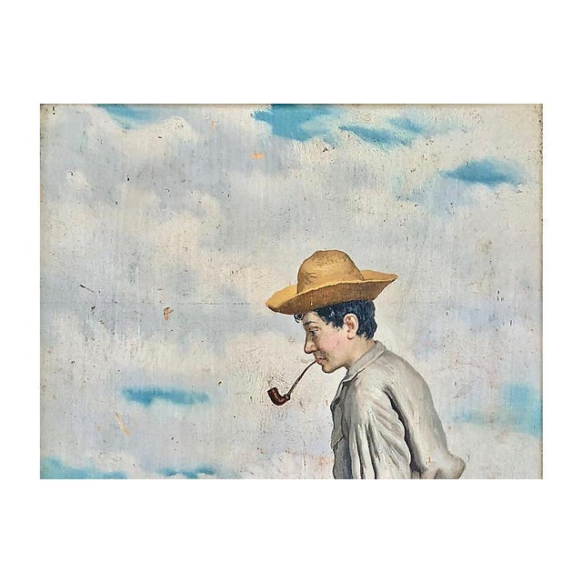 Young Man Fishing, Naples, 1880s For Sale - Image 4 of 8