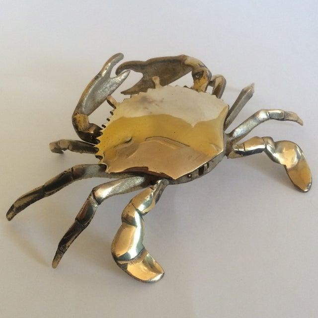 Coastal Living Brass Crab Ash Tray - Image 3 of 9