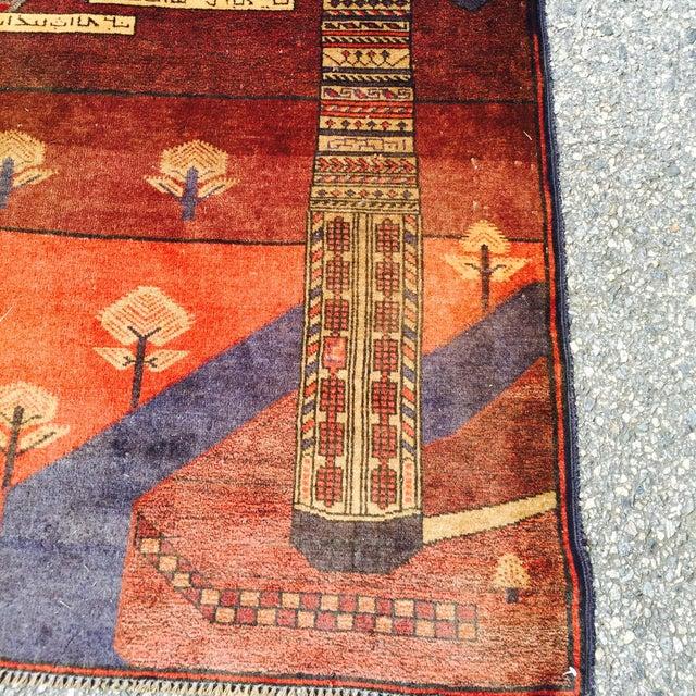 """Vintage Ferdos Persian Rug - 3' x 3'10"""" - Image 9 of 9"""