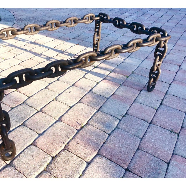 Mid 20th Century Ship Iron Chain Link Coffee Table For Sale - Image 5 of 10