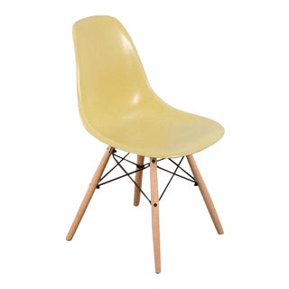 Herman Miller Eames Canary Yellow Shell Chair For Sale