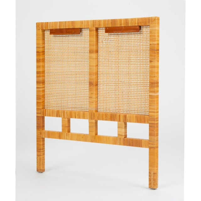 Boho Chic Single Woven Cane Twin Headboard by Danny Ho Fong for Tropi-Cal For Sale - Image 3 of 10