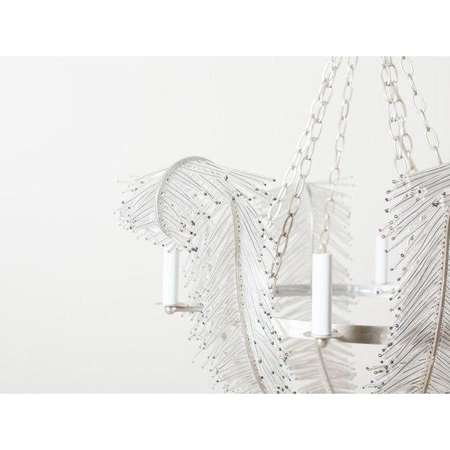 2010s Cordelia Glass Beaded Chandelier For Sale - Image 5 of 6