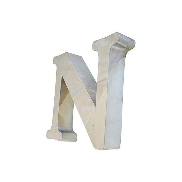 1970s Stainless Steel Marquee Letter N - Image 4 of 5