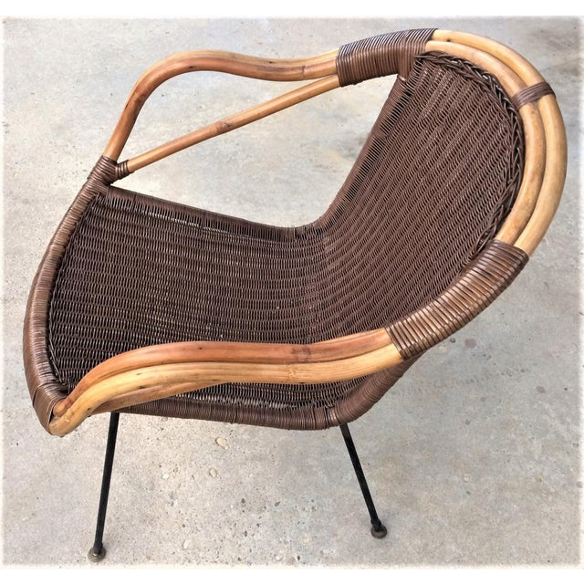 Mid-Century Rattan Chair - Image 3 of 6