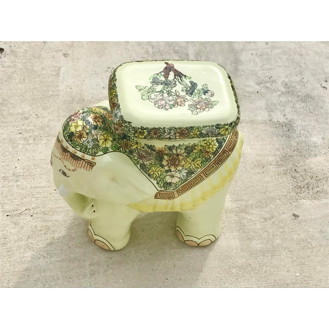 Asian 1980s Vintage Elephant Garden Stool For Sale - Image 3 of 7