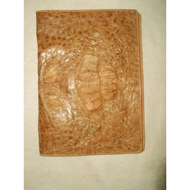 1800s French Crocodile Leather Portfolio Case - Image 2 of 4