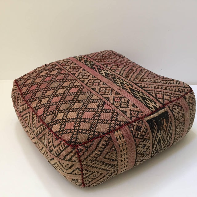 Red Vintage Moroccan Tribal Floor Pillow For Sale - Image 8 of 13