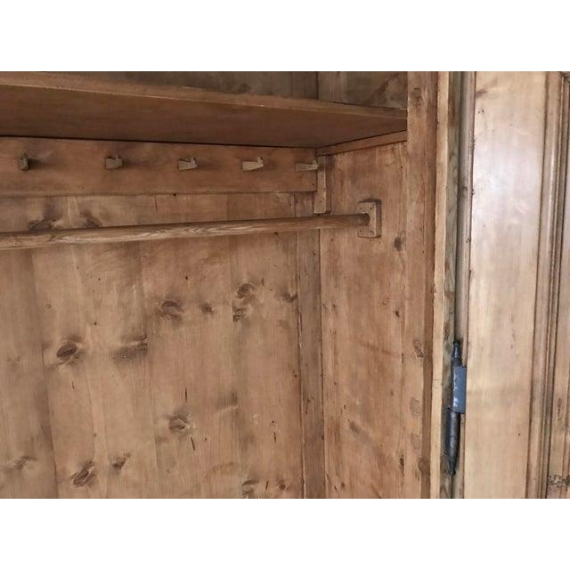 Handmade 1800s German Pine Armoire For Sale - Image 5 of 7