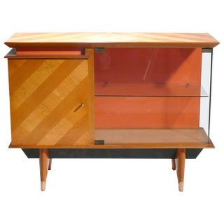 Mid Century French Modernist Cabinet Vaisselier, 1950s For Sale
