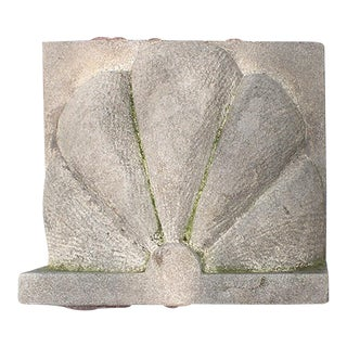 Early 20th Century Traditional Limestone Scallop Form Building Ornament For Sale