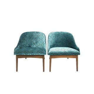 1960s Mid-Century Modern S. J. Weiner Kodawood Bentwood Lounge Chairs - a Pair