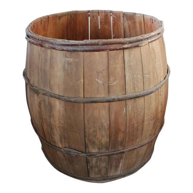 1930's Vintage Wood Barrell For Sale