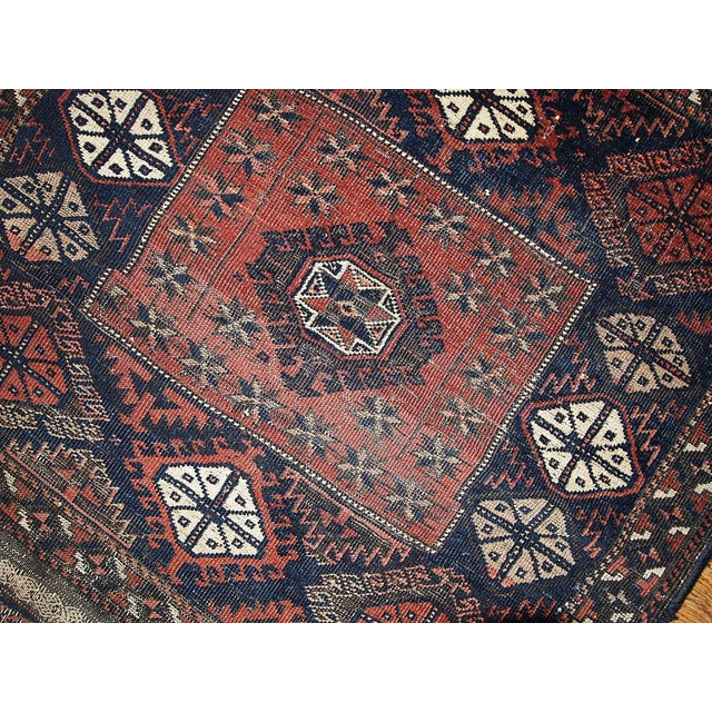 Afghan 1880s Handmade Antique Afghan Baluch Rug - 2.7' X 2.10' For Sale - Image 3 of 5