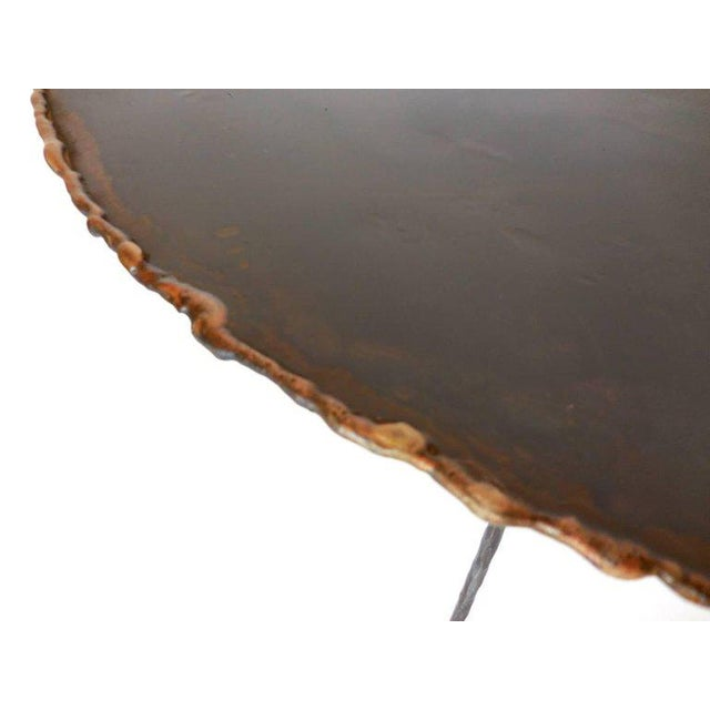 Early 21st Century Hand-Forged Iron and Bronze Tripod Table For Sale - Image 5 of 7