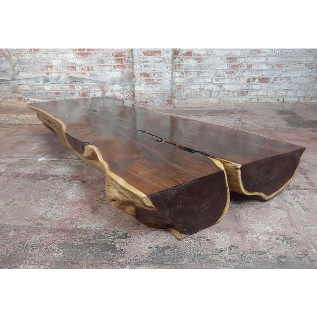 """Brown African Leadwood Slab """"Monumental"""" Coffee Table For Sale - Image 8 of 13"""