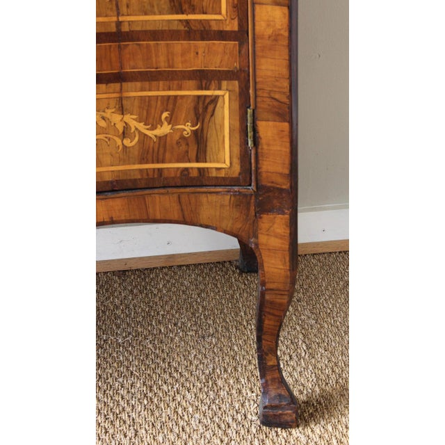 18th Century Dutch Serpentine Front Marquetry Commode For Sale - Image 9 of 13