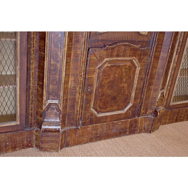 Red Mid-19th Century Italian Rococo Style Bookcase For Sale - Image 8 of 13
