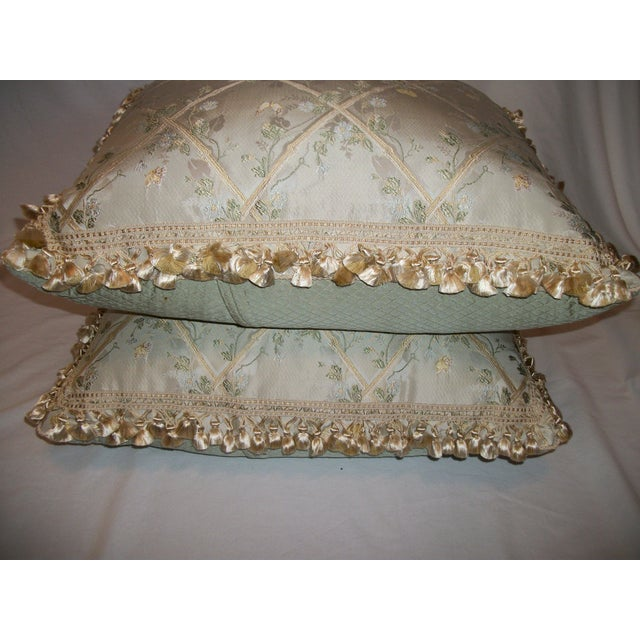 """Scalamandre """"Butterfly & Trellis"""" Pillows - A Pair For Sale In New York - Image 6 of 8"""