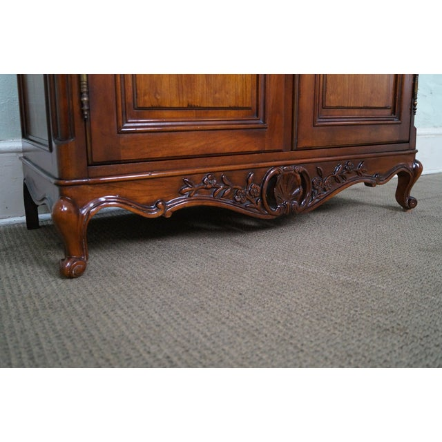 French Louis XV Style Fruitwood Armoire - Image 8 of 10