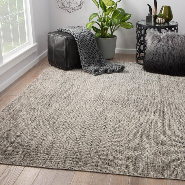 2010s Jaipur Living Shervin Hand-Knotted Chevron Dark Gray & Ivory Area Rug - 8' X 10' For Sale - Image 5 of 6