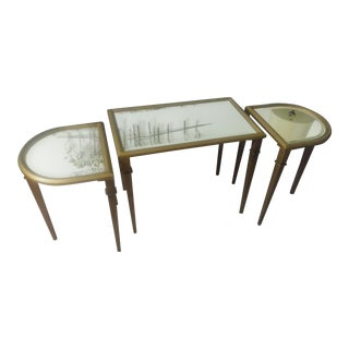 Hollywood Regency Tea Table Set - 3 Pieces For Sale
