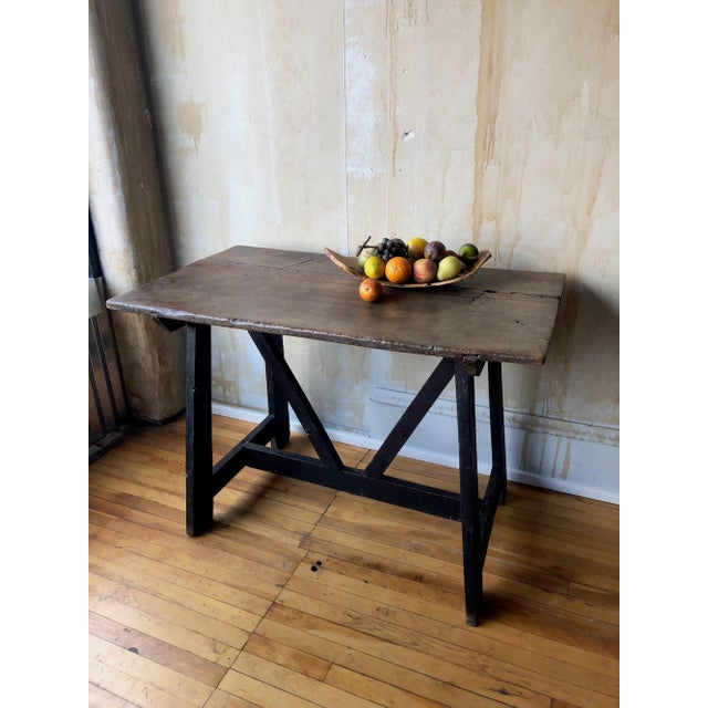 17th Century Italian Antique Trestle Table For Sale In Kansas City - Image 6 of 12