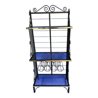 Black Iron Bakers Rack For Sale