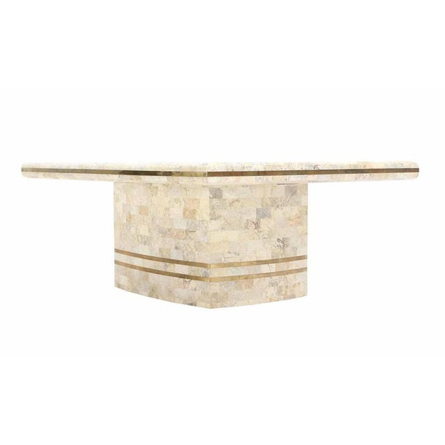 Mid-Century Modern Maitland Smith Brass Inlay Tessellated Coffee Table For Sale - Image 3 of 5