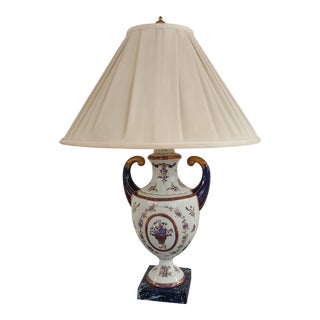 Winterthur Porcelain Blue and White China Table Lamp For Sale