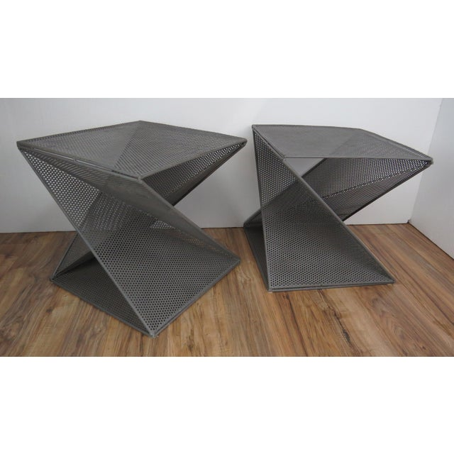 1950s Mathieu Matégot Geometric Side Tables - A Pair For Sale - Image 13 of 13