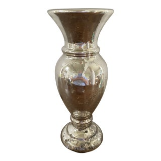 Antique Mercury Glass Vase For Sale