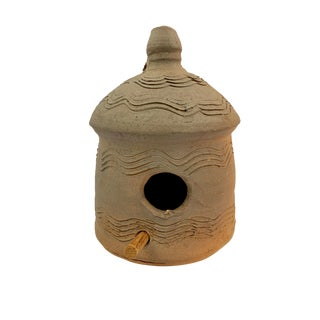 1970s Vintage Burlon Craig Catawba Valley Pottery Artist Folk Potter Birdhouse For Sale