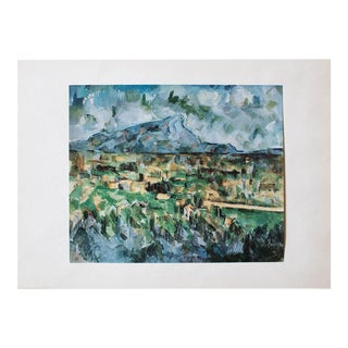1950s Cezanne, Mont Sainte Victoire First Edition Lithograph For Sale