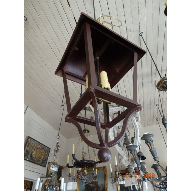French Iron Lantern For Sale - Image 9 of 10