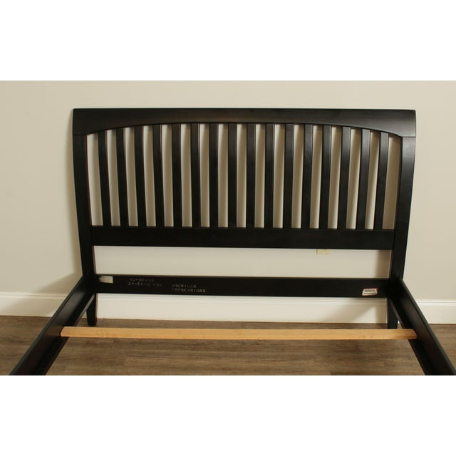Ethan Allen American Impressions Queen Size Black Sleigh Bed For Sale In Philadelphia - Image 6 of 13