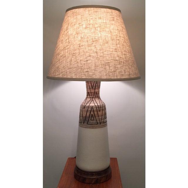 Mid-Century Vontury Porcelain Lamp - Image 3 of 7