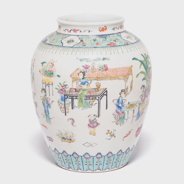 Early 20th Century Chinese Wucai Jar For Sale In Chicago - Image 6 of 6