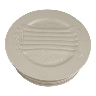 Boch Freres La Louviere Asparagus Plates- Set of 12 For Sale