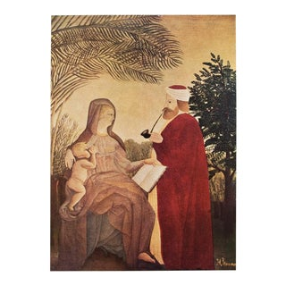 "1951 Original Post-Impressionist ""La Sainte Famille"" Photogravure by Henri Rousseau For Sale"