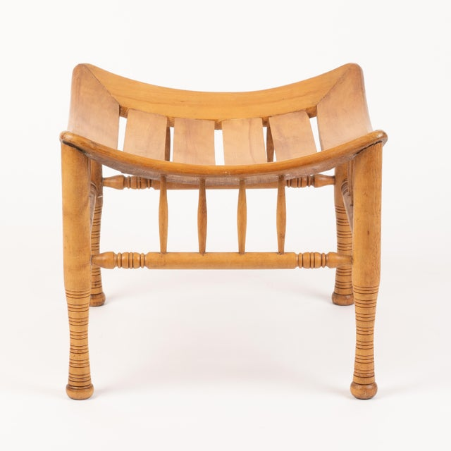 American Late 19th Century American Egyptian Revival Birch Thebian Stool For Sale - Image 3 of 5
