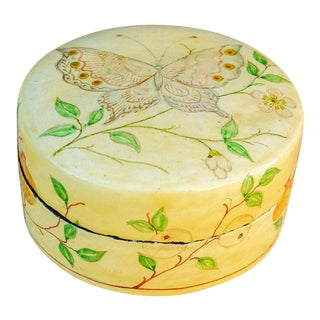 Small Paper Mache Butterfly Box For Sale