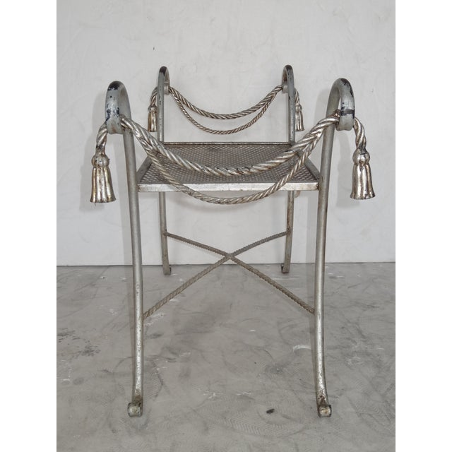 Regency Style Metal Bench For Sale - Image 5 of 7