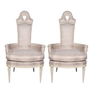 Vintage Regency Armchairs - a Pair For Sale
