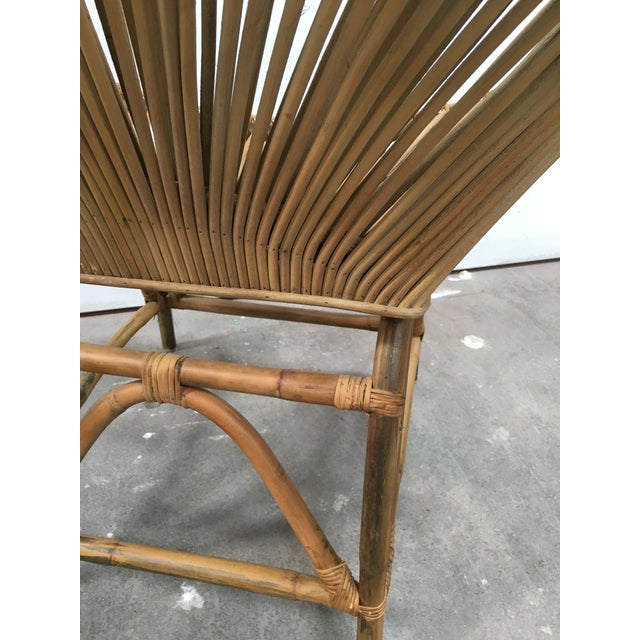 Rattan Mid-Century Modern Rattan Circle Chair For Sale - Image 7 of 7